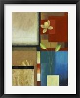 Ivory on Blue II Framed Print