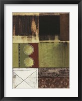 Circle and Squares II Framed Print