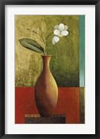 Gold Vase Floral II Framed Print