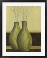 Green Vases II Framed Print