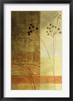 Brown, Orange Block Left Framed Print
