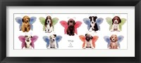 Framed Wings Puppy Panel