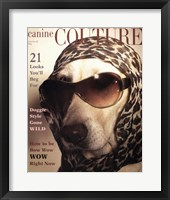 Framed Canine Couture Bow Wow