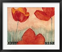Poppy Field I Framed Print