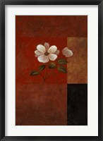 Red Floral I Framed Print