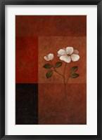 Red Floral II Framed Print