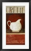 Creme Framed Print