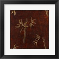Framed Red Bamboo