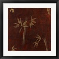Framed Red Bamboo