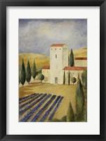 Framed Tuscan Villa I