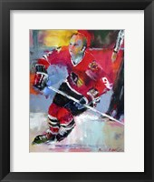 Framed Bobby Hull