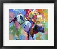 Framed Bull Riding