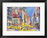 Framed New York Taxi