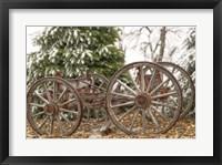 Framed Wagon in Winter