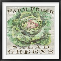 Framed Farm Fresh Greens
