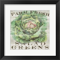 Farm Fresh Greens Framed Print