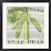 Framed Farm Fresh Peas
