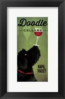 Framed Doodle Wine II Black Dog
