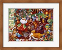 Framed Santa Rejoicing