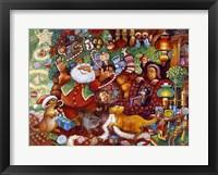 Framed Santa Rejoicing