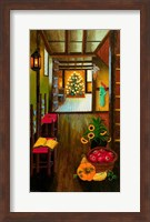 Framed Colonial Christmas Tree