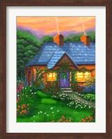 Framed Rose Cottage