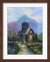 Framed Irish Church & Garden