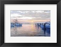 Framed Sunset at Galilee