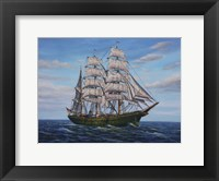 Framed Clipper Ship