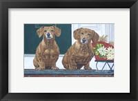 Framed Christmas Dogs
