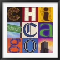 Michigan Avenue Framed Print
