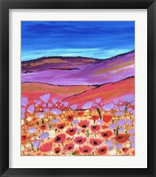 Framed Poppy Fields