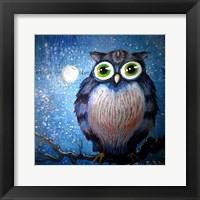 Framed Blue Owl