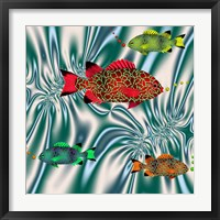 Fishtales VI Framed Print