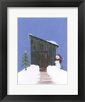 Framed Barnwood Outhouse