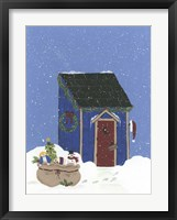 Blue Outhouse Framed Print