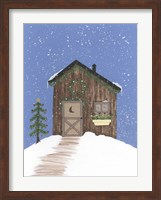 Framed Brown Outhouse