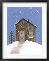 Brown Outhouse Framed Print