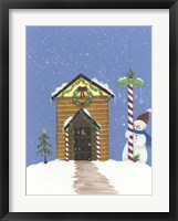 Log Outhouse Framed Print