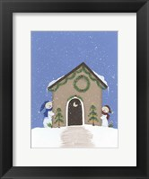 Framed Tan Outhouse
