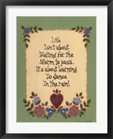 Life's Lessons III Framed Print
