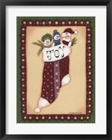 Stocking V Joy Framed Print