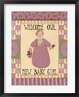 Welcome Baby I Framed Print