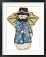 Framed Blue Snowflake Jacket Snowman