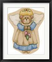 Framed Girl Bear Angel
