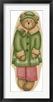 Framed Green Coat Boy Bear