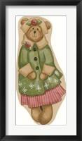 Framed Green Coat Girl Bear