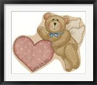 Framed Bear Angel With Heart