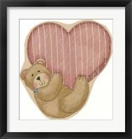 Framed Bear Hanging From Heart