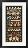 Stack Of Quilts With Dark Green Border 2 Framed Print